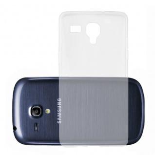 Cadorabo Hülle für Samsung Galaxy S3 MINI in VOLL TRANSPARENT - Handyhülle aus flexiblem TPU Silikon - Silikonhülle Schutzhülle Ultra Slim Soft Back Cover Case Bumper