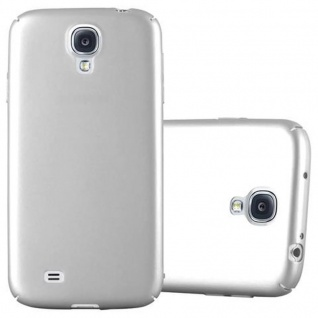 Cadorabo Hülle für Samsung Galaxy S4 in METALL SILBER Hardcase Handyhülle aus Plastik gegen Kratzer und Stöße Schutzhülle Bumper Ultra Slim Back Case Hard Cover