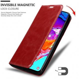 Cadorabo Hülle für Samsung Galaxy A70 in APFEL ROT - Handyhülle mit Magnetverschluss, Standfunktion und Kartenfach - Case Cover Schutzhülle Etui Tasche Book Klapp Style - Vorschau 3