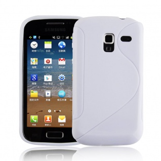 Cadorabo Hülle für Samsung Galaxy ACE 2 in MAGNESIUM WEIß - Handyhülle aus flexiblem TPU Silikon - Silikonhülle Schutzhülle Ultra Slim Soft Back Cover Case Bumper