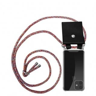 Cadorabo Handy Kette für Apple iPhone 11 (XI) in COLORFUL PARROT - Silikon Necklace Umhänge Hülle mit Silber Ringen, Kordel Band Schnur und abnehmbarem Etui - Schutzhülle