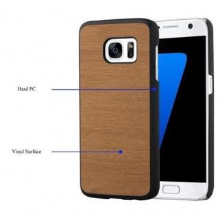 Cadorabo Hülle für Samsung Galaxy S7 in WOODY BRAUN ? Hardcase Handyhülle aus Plastik gegen Kratzer und Stöße ? Schutzhülle Bumper Ultra Slim Back Case Hard Cover - Vorschau 3