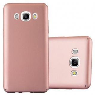 Cadorabo Hülle für Samsung Galaxy J7 2016 in METALL ROSE GOLD - Hardcase Handyhülle aus Plastik gegen Kratzer und Stöße - Schutzhülle Bumper Ultra Slim Back Case Hard Cover