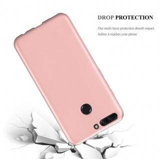 Cadorabo Hülle für Honor 8 PRO in METALLIC ROSÉ GOLD - Handyhülle aus flexiblem TPU Silikon - Silikonhülle Schutzhülle Ultra Slim Soft Back Cover Case Bumper - Vorschau 3