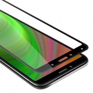 Cadorabo Vollbild Panzer Folie für Xiaomi RedMi 7A - Schutzfolie in TRANSPARENT mit SCHWARZ - Gehärtetes (Tempered) Display-Schutzglas in 9H Härte mit 3D Touch Kompatibilität