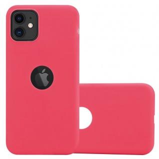 Cadorabo Hülle für Apple iPhone 11 (XI) in CANDY ROT - Handyhülle aus flexiblem TPU Silikon - Silikonhülle Schutzhülle Ultra Slim Soft Back Cover Case Bumper