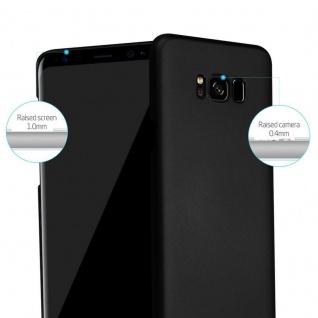 Cadorabo Hülle für Samsung Galaxy S8 in METALL SCHWARZ - Hardcase Handyhülle aus Plastik gegen Kratzer und Stöße - Schutzhülle Bumper Ultra Slim Back Case Hard Cover - Vorschau 2