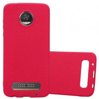 Cadorabo Hülle für Motorola MOTO Z2 PLAY in FROST ROT - Handyhülle aus flexiblem TPU Silikon - Silikonhülle Schutzhülle Ultra Slim Soft Back Cover Case Bumper