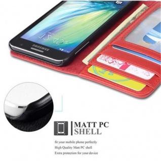 Cadorabo Hülle für Samsung Galaxy A3 2015 in INFERNO ROT ? Handyhülle mit Magnetverschluss und 3 Kartenfächern ? Case Cover Schutzhülle Etui Tasche Book Klapp Style - Vorschau 3