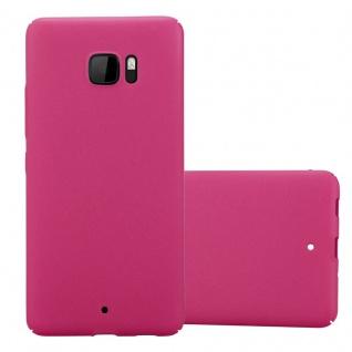 Cadorabo Hülle für HTC U Ultra in FROSTY PINK - Hardcase Handyhülle aus Plastik gegen Kratzer und Stöße - Schutzhülle Bumper Ultra Slim Back Case Hard Cover