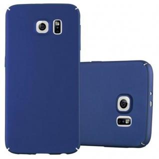 Cadorabo Hülle für Samsung Galaxy S6 in METALL BLAU ? Hardcase Handyhülle aus Plastik gegen Kratzer und Stöße ? Schutzhülle Bumper Ultra Slim Back Case Hard Cover