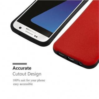 Cadorabo Hülle für Samsung Galaxy S7 - Hülle in FLAMMEN ROT - Small Waist Handyhülle mit rutschfestem Gummi-Rücken - Hard Case TPU Silikon Schutzhülle - Vorschau 5