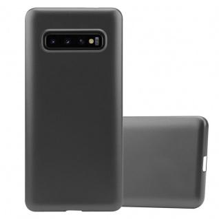 Cadorabo Hülle für Samsung Galaxy S10 PLUS in METALLIC GRAU - Handyhülle aus flexiblem TPU Silikon - Silikonhülle Schutzhülle Ultra Slim Soft Back Cover Case Bumper