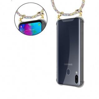 Cadorabo Handy Kette für Samsung Galaxy M20 in RAINBOW - Silikon Necklace Umhänge Hülle mit Gold Ringen, Kordel Band Schnur und abnehmbarem Etui ? Schutzhülle - Vorschau 5