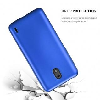Cadorabo Hülle für Nokia 2 2017 in METALLIC BLAU - Handyhülle aus flexiblem TPU Silikon - Silikonhülle Schutzhülle Ultra Slim Soft Back Cover Case Bumper - Vorschau 3