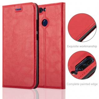Cadorabo Hülle für Honor 8 PRO in APFEL ROT Handyhülle mit Magnetverschluss, Standfunktion und Kartenfach Case Cover Schutzhülle Etui Tasche Book Klapp Style - Vorschau 2