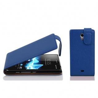 Cadorabo Hülle für Sony Xperia T in KÖNIGS BLAU - Handyhülle im Flip Design aus strukturiertem Kunstleder - Case Cover Schutzhülle Etui Tasche Book Klapp Style