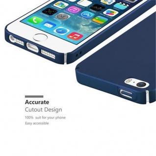Cadorabo Hülle für Apple iPhone 5 / iPhone 5S / iPhone SE in METALL BLAU ? Hardcase Handyhülle aus Plastik gegen Kratzer und Stöße ? Schutzhülle Bumper Ultra Slim Back Case Hard Cover - Vorschau 3