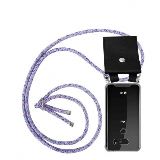 Cadorabo Handy Kette für LG V30 in UNICORN - Silikon Necklace Umhänge Hülle mit Silber Ringen, Kordel Band Schnur und abnehmbarem Etui - Schutzhülle