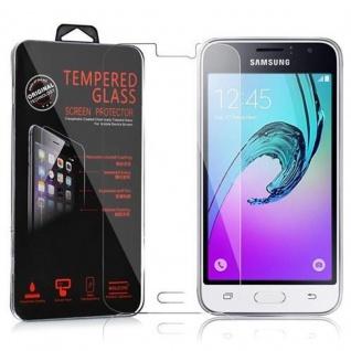 Cadorabo Panzerglas für Samsung Galaxy J1 2016 (6) - Schutzfolie in KRISTALL KLAR ? Gehärtetes (Tempered) Display-Schutzglas in 9H Härte mit 3D Touch Kompatibilität