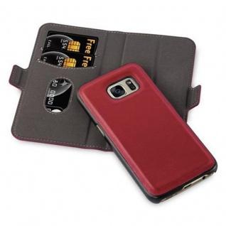 Cadorabo Hülle für Samsung Galaxy S7 - Hülle in GRANATAPFEL ROT - Handyhülle im 2-in-1 Design mit Standfunktion und Kartenfach - Hard Case Book Etui Schutzhülle Tasche Cover - Vorschau 2