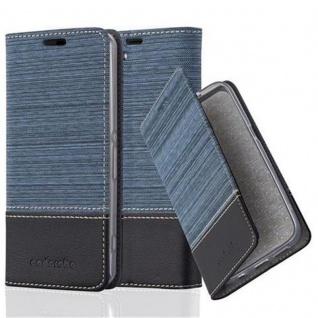 Cadorabo Hülle für Sony Xperia Z1 COMPACT in DUNKEL BLAU SCHWARZ - Handyhülle mit Magnetverschluss, Standfunktion und Kartenfach - Case Cover Schutzhülle Etui Tasche Book Klapp Style