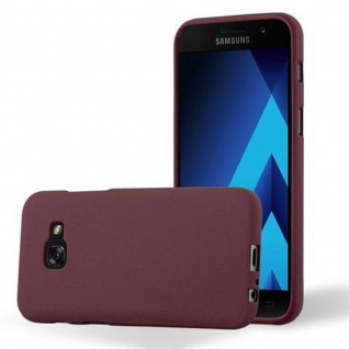 Cadorabo Hülle für Samsung Galaxy A3 2017 in FROST BORDEAUX LILA - Handyhülle aus flexiblem TPU Silikon - Silikonhülle Schutzhülle Ultra Slim Soft Back Cover Case Bumper