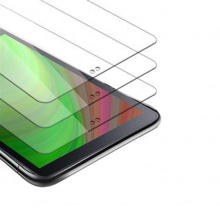"""Cadorabo 3x Panzer Folie für Samsung Galaxy Tab A(10.5"""") Schutzfolie in KRISTALL KLAR 3er Pack Gehärtetes (Tempered) Display-Schutzglas in 9H Härte mit 3D Touch Kompatibilität"""