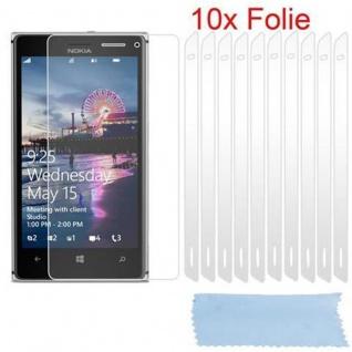 Cadorabo Displayschutzfolien für Nokia Lumia 925 - Schutzfolien in HIGH CLEAR ? 10 Stück hochtransparenter Schutzfolien gegen Staub, Schmutz und Kratzer