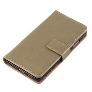Cadorabo Hülle für Huawei P8 LITE 2015 in CAPPUCINO BRAUN - Handyhülle mit Magnetverschluss, Standfunktion und Kartenfach - Case Cover Schutzhülle Etui Tasche Book Klapp Style - Vorschau 4