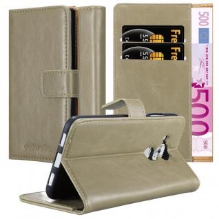 Cadorabo Hülle für Huawei NOVA PLUS in CAPPUCCINO BRAUN ? Handyhülle mit Magnetverschluss, Standfunktion und Kartenfach ? Case Cover Schutzhülle Etui Tasche Book Klapp Style