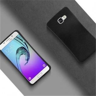 Cadorabo Hülle für Samsung Galaxy A3 2016 - Hülle in MINERAL SCHWARZ ? Small Waist Handyhülle mit rutschfestem Gummi-Rücken - Hard Case TPU Silikon Schutzhülle - Vorschau 2