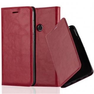 Cadorabo Hülle für Huawei P8 LITE 2017 in APFEL ROT - Handyhülle mit Magnetverschluss, Standfunktion und Kartenfach - Case Cover Schutzhülle Etui Tasche Book Klapp Style