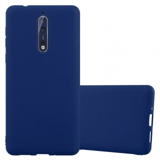 Cadorabo Hülle für Nokia 8 2017 in CANDY DUNKEL BLAU - Handyhülle aus flexiblem TPU Silikon - Silikonhülle Schutzhülle Ultra Slim Soft Back Cover Case Bumper
