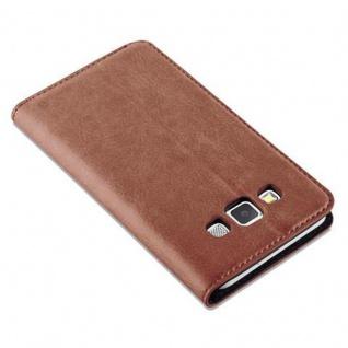 Cadorabo Hülle für Samsung Galaxy A3 2015 in CAPPUCCINO BRAUN - Handyhülle mit Magnetverschluss, Standfunktion und Kartenfach - Case Cover Schutzhülle Etui Tasche Book Klapp Style - Vorschau 5