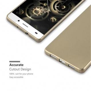 Cadorabo Hülle für Huawei P8 LITE 2015 in METALLIC GOLD - Handyhülle aus flexiblem TPU Silikon - Silikonhülle Schutzhülle Ultra Slim Soft Back Cover Case Bumper - Vorschau 2