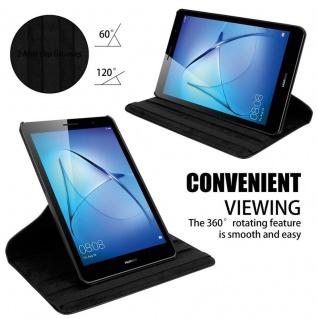 """"""" Cadorabo Tablet Hülle für Huawei MediaPad T3 8 (8, 0"""" Zoll) in HOLUNDER SCHWARZ ? Book Style Schutzhülle OHNE Auto Wake Up mit Standfunktion und Gummiband Verschluss"""" - Vorschau 4"""