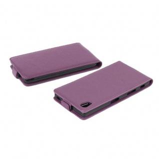 Cadorabo Hülle für Sony Xperia X in BORDEAUX LILA - Handyhülle im Flip Design aus strukturiertem Kunstleder - Case Cover Schutzhülle Etui Tasche Book Klapp Style - Vorschau 4