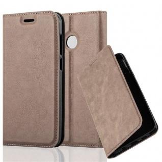 Cadorabo Hülle für ZTE BLADE A6 in KAFFEE BRAUN - Handyhülle mit Magnetverschluss, Standfunktion und Kartenfach - Case Cover Schutzhülle Etui Tasche Book Klapp Style