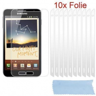 Cadorabo Displayschutzfolien für Samsung Galxy NOTE 1 - Schutzfolien in HIGH CLEAR ? 10 Stück hochtransparenter Schutzfolien gegen Staub, Schmutz und Kratzer
