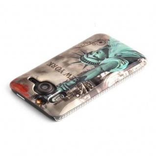 Cadorabo - Hard Cover Für Htc Desire Hd - Case Cover Schutzhülle Bumper Im Design: New York - Freiheitsstatue - Vorschau 3