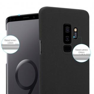 Cadorabo Hülle für Samsung Galaxy S9 PLUS in FROSTY SCHWARZ - Hardcase Handyhülle aus Plastik gegen Kratzer und Stöße - Schutzhülle Bumper Ultra Slim Back Case Hard Cover - Vorschau 3
