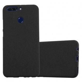 Cadorabo Hülle für Honor 8 PRO in FROST SCHWARZ - Handyhülle aus flexiblem TPU Silikon - Silikonhülle Schutzhülle Ultra Slim Soft Back Cover Case Bumper