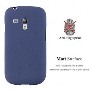 Cadorabo Hülle für Samsung Galaxy S3 MINI in FROST DUNKEL BLAU - Handyhülle aus flexiblem TPU Silikon - Silikonhülle Schutzhülle Ultra Slim Soft Back Cover Case Bumper - Vorschau 3