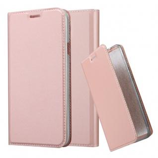 Cadorabo Hülle für Samsung Galaxy S4 Active in CLASSY ROSÉ GOLD - Handyhülle mit Magnetverschluss, Standfunktion und Kartenfach - Case Cover Schutzhülle Etui Tasche Book Klapp Style