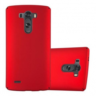 Cadorabo Hülle für LG G3 in METALL ROT - Hardcase Handyhülle aus Plastik gegen Kratzer und Stöße - Schutzhülle Bumper Ultra Slim Back Case Hard Cover