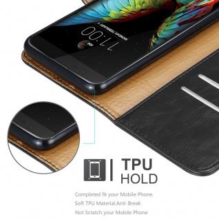 Cadorabo Hülle für LG K10 2016 in GRAPHIT SCHWARZ - Handyhülle mit Magnetverschluss, Standfunktion und Kartenfach - Case Cover Schutzhülle Etui Tasche Book Klapp Style - Vorschau 3