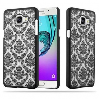Samsung Galaxy A5 2016 Hardcase Hülle in SCHWARZ von Cadorabo - Blumen Paisley Henna Design Schutzhülle ? Handyhülle Bumper Back Case Cover