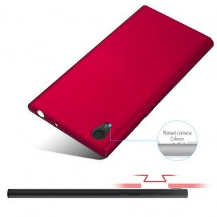 Cadorabo Hülle für Sony Xperia L1 in METALL ROT - Hardcase Handyhülle aus Plastik gegen Kratzer und Stöße - Schutzhülle Bumper Ultra Slim Back Case Hard Cover - Vorschau 4