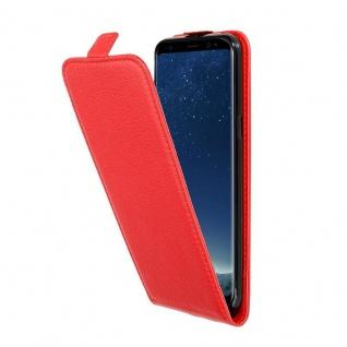 Cadorabo Hülle für Samsung Galaxy S8 PLUS in INFERNO ROT - Handyhülle im Flip Design aus strukturiertem Kunstleder - Case Cover Schutzhülle Etui Tasche Book Klapp Style
